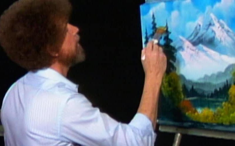 bob ross schilder workshop